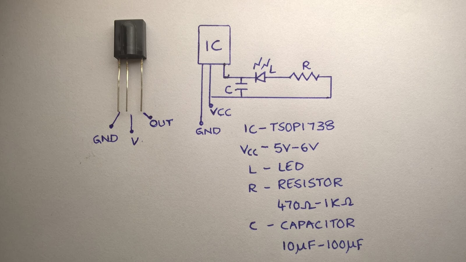 Pleasant Infrared Ir Remote Tester Ir Receiver Circuit Using Tsop1738 Wiring 101 Vieworaxxcnl